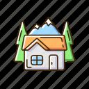 hut, mountain, cabin, lodge