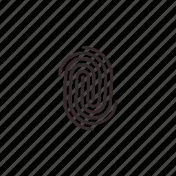 clue, find, fingerprint icon