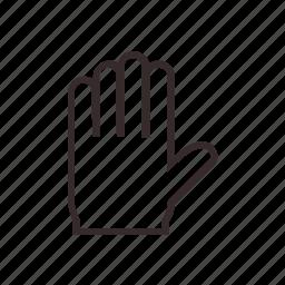 detective, glove, stop, winter icon