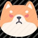 angry, dog, shiba inu, emoji, emotion, expression, feeling