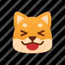laugh, shiba inu, emoji, emotional, funny, laughing, joke