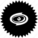 emblem, eye, round, sign, view