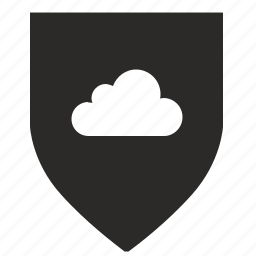 cloud, security, shield, technology, weapon icon