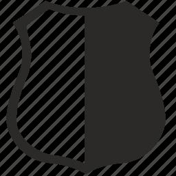 cop, man, police, shield icon