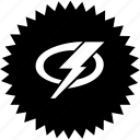 electric, emblem, rock, shock, sign icon