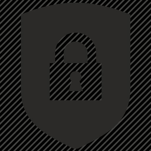 antivirus, lock, shield, sign icon