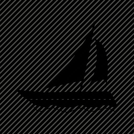 boat, motor boat, sail, sailboat, sailing, ship icon