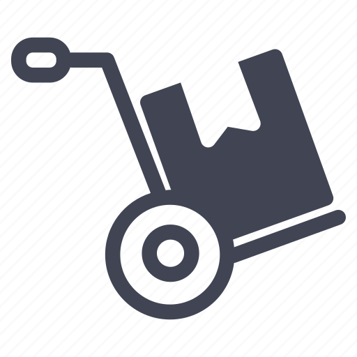 box, cart, crate, package, shipping icon