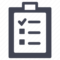 check, checklist, clipboard, package, shipping icon