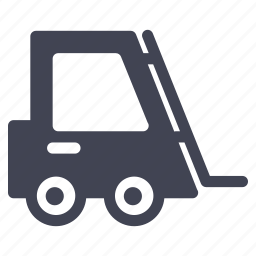 forklift, lift, package, shipping, vehicle, warehouse icon