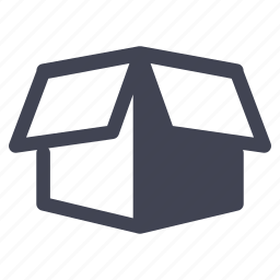 box, crate, open, package, shipping icon