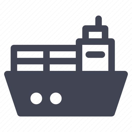 boat, box, delivery, package, ship, shipping icon