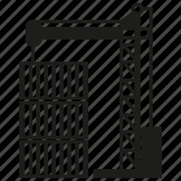 cargo, container, crane, dock, port icon
