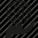 global, globe, hand, hold, world