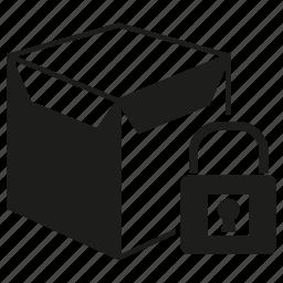 box, key, padlock, product, protection, secure icon