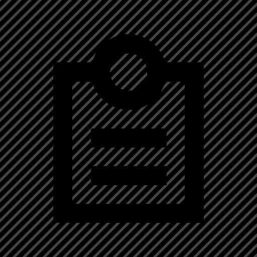 clipboard, document, form, list, memo icon