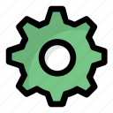 cog, cogwheel, gear, mechanic, setting icon