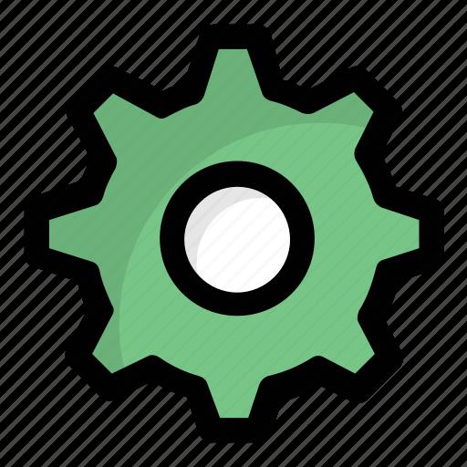 Cog, cogwheel, setting, gear, mechanic icon