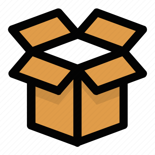 Box, logistics, open box, package, unpacking, unwrapping icon - Download on Iconfinder