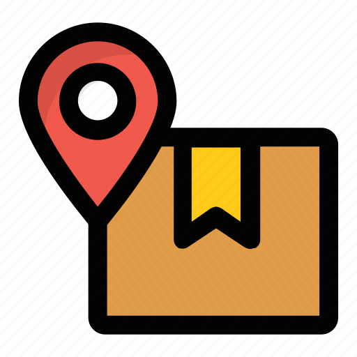 delivery location, delivery map, location pointer, logistics points, shipping address icon