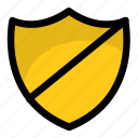 defended, guarded, protected, secure, shield icon