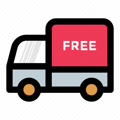 delivery service, delivery truck, free delivery, free shipping, free transport icon