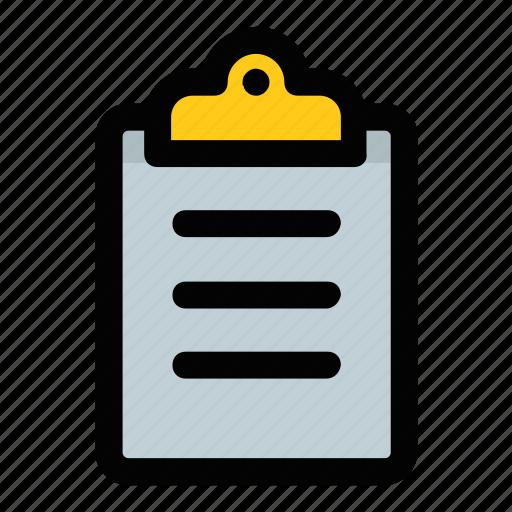 clipboard, list, notes, plan, shortlist icon