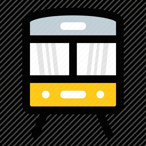 subway, train, tram, transport, travel icon