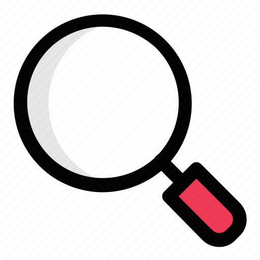 detective glass, loupe, magnifier, magnifying glass, search tool icon