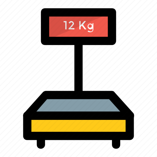 digital scale, industrial scale, mechanical scale, weighing, weight scale icon
