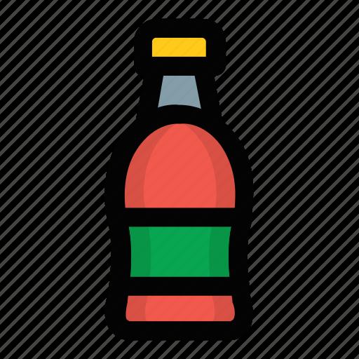 beverage bottle, bottle, cola, soda, soft drink icon