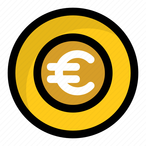cash, euro, euro coin, finance, money icon