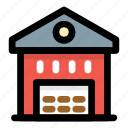 godown, storage unit, storehouse, storeroom, warehouse icon
