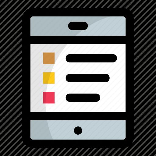 checklist app, mobile, mobile checklist, smartphone, to do app icon