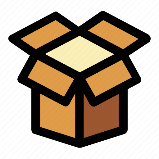 box, logistics, open box, package, unpacking, unwrapping icon
