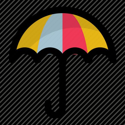 bumbershoot, canopy, parasol, rain protection, umbrella icon