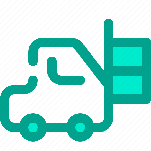 box, delivery, forklift, shipping icon