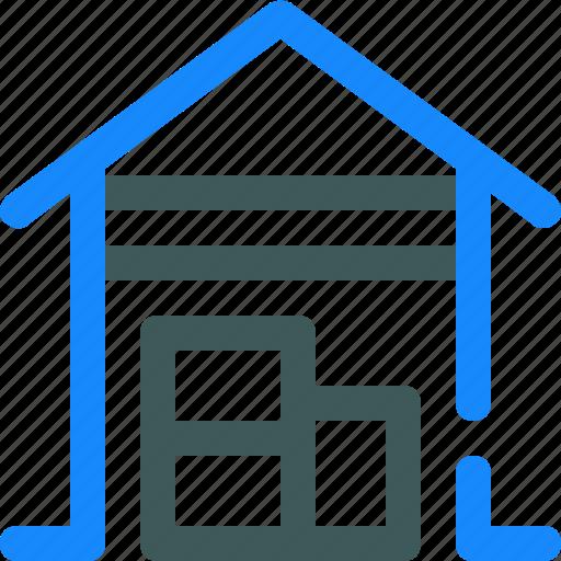 garage, hangar, open, store, warehouse icon
