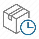 box, delivery, fast, logistic, shipping, time icon