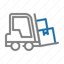 delivery, forklift, logistic, shipping icon