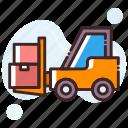 bendi truck, counterbalanced truck, fork truck, forklift truck, pallet jack icon