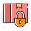 locked box, lockout, package, packed box, parcel icon
