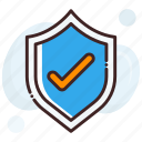 shield, checkmark, approved, trusted product concept, check shield