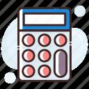 adding machine, calc, calculating machine, calculation, calculator