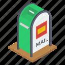 letter hole, letter plate, letterbox, mailbox, mailslot icon