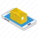 mobile delivery, mobile package, mobile parcel, online delivery, order booking icon