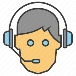 call center, chat, contact, customer support, headphone, operator icon