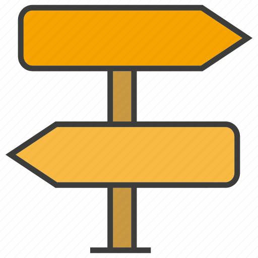 direction, road sign, signage icon