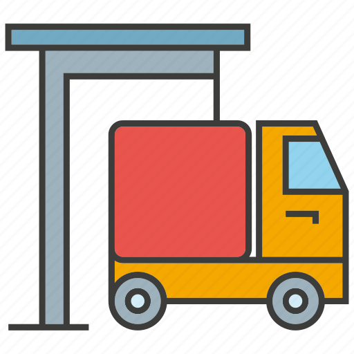 send, shipping, truck, vehicle, warehouse icon