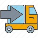 car, delivery, send, shipping, truck, vehicle icon